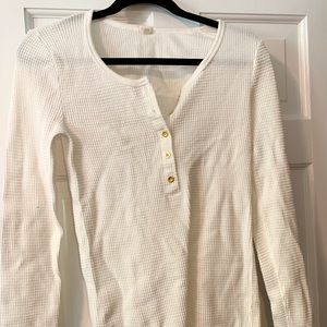 Long-sleeved waffle shirt from JCrew